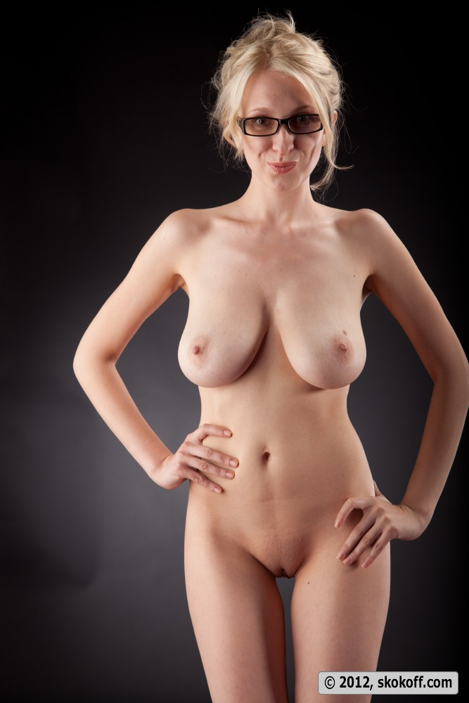 Nude women with glasses