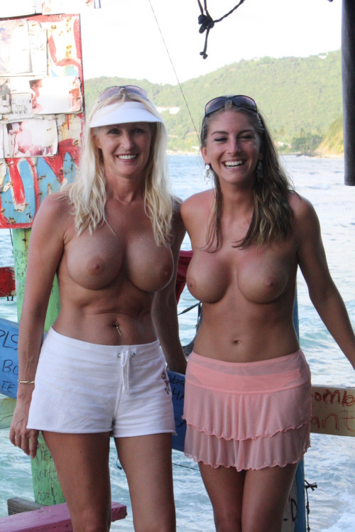 Pity, Mother daughter topless together