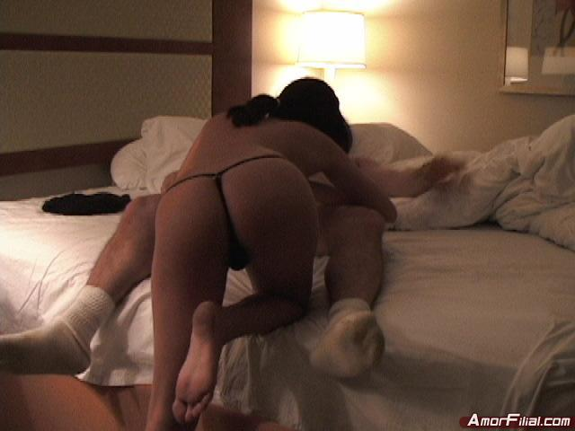Young couple having some fun (never seen before)