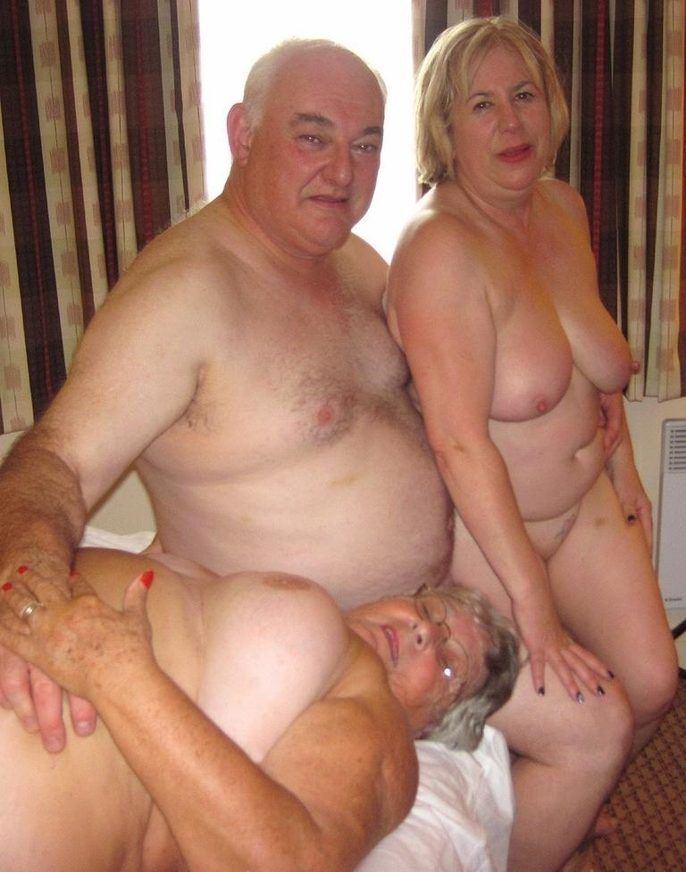 Helped with naked amateur grandparents live