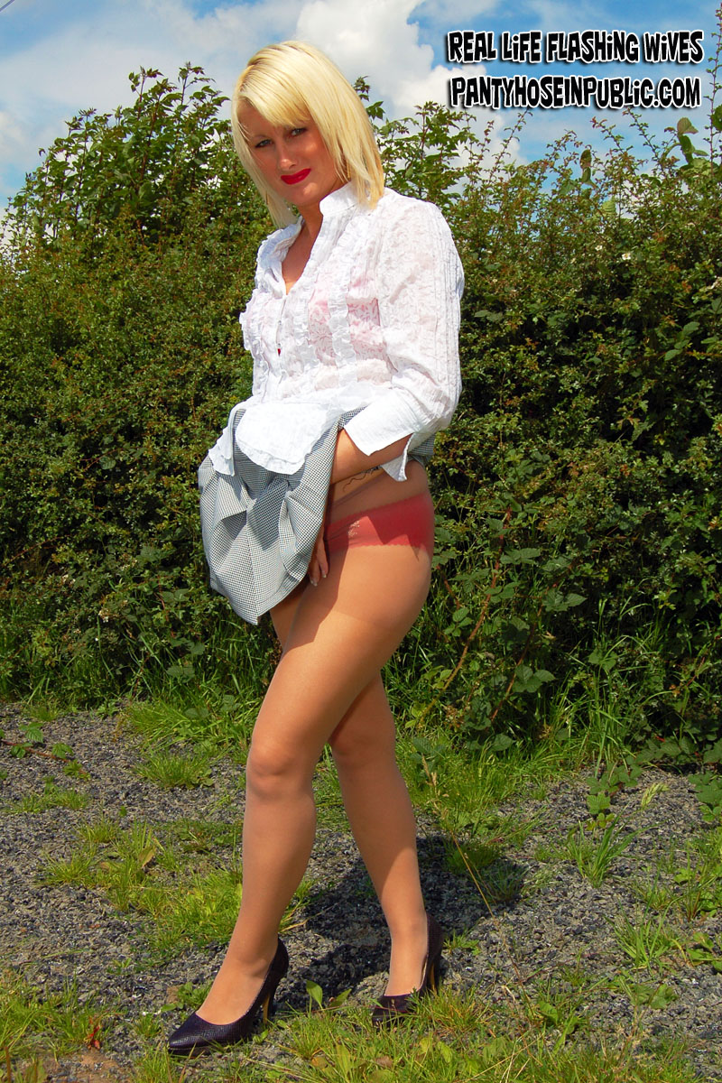 mature pantyhose Sally in