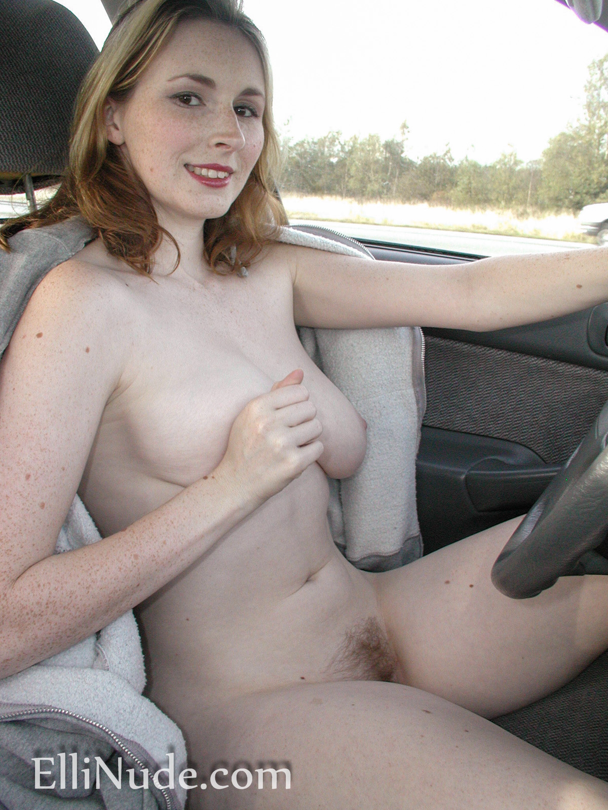 Women nude naked driving