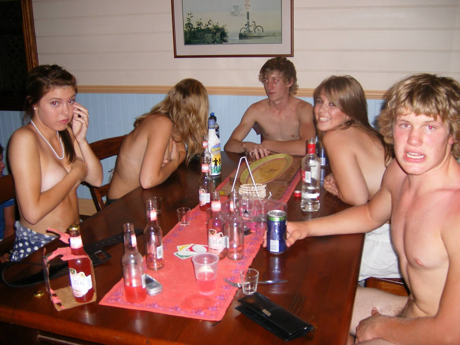 Valuable information drunk girl strips at party not