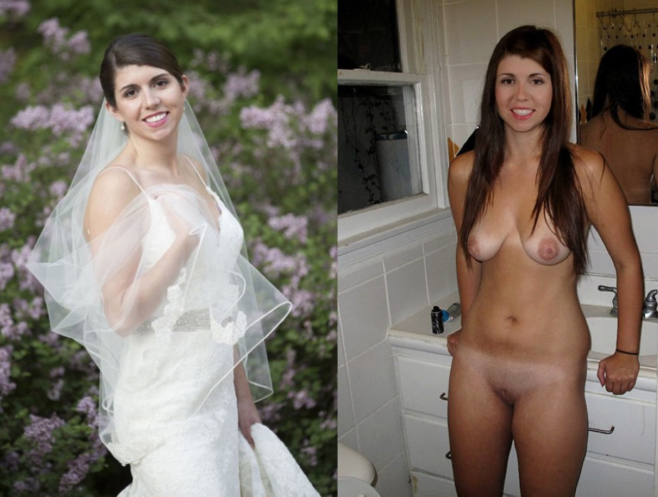 dressed undressed Nude amateur bride and