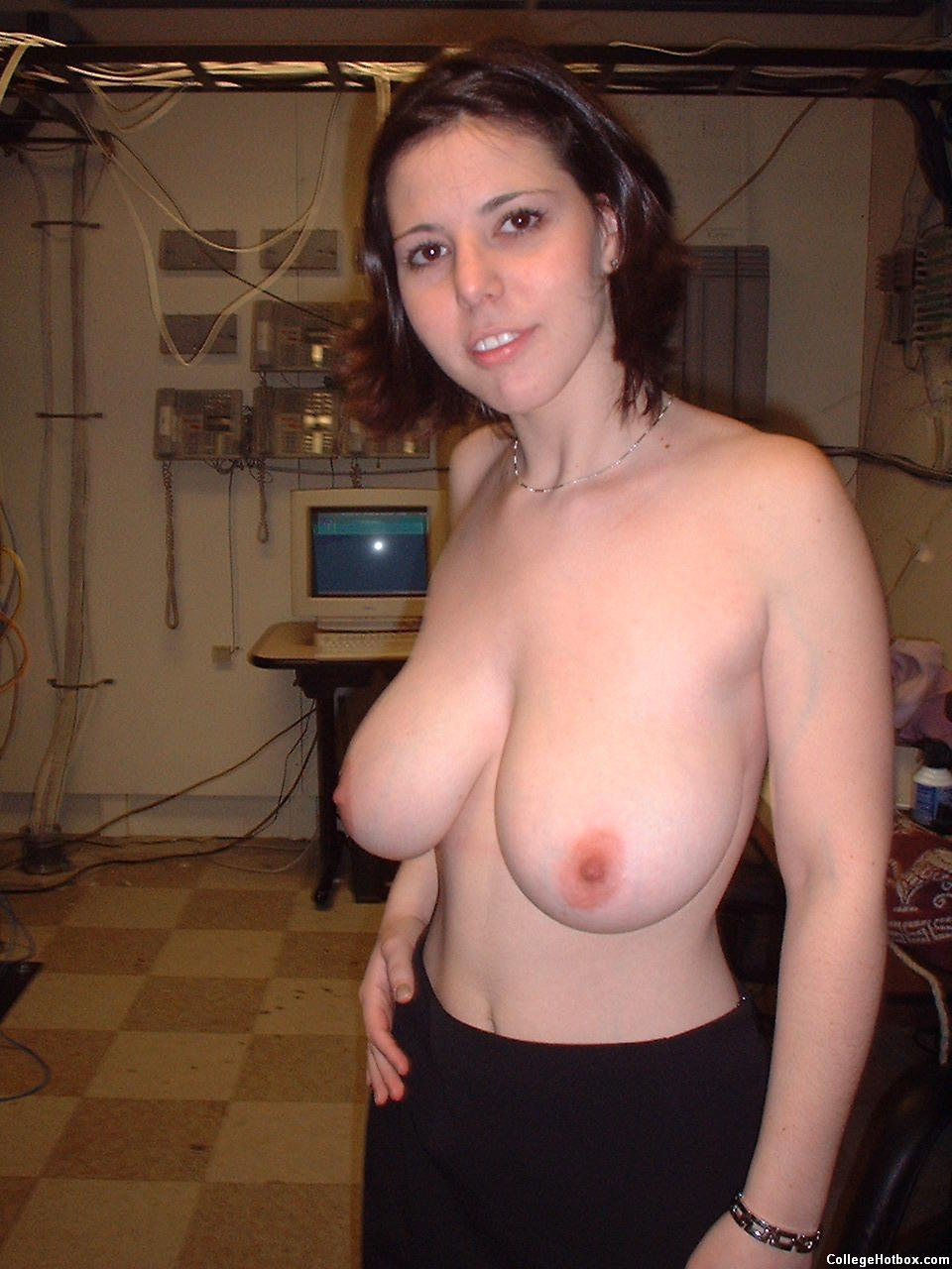 Nerd girls tits with big