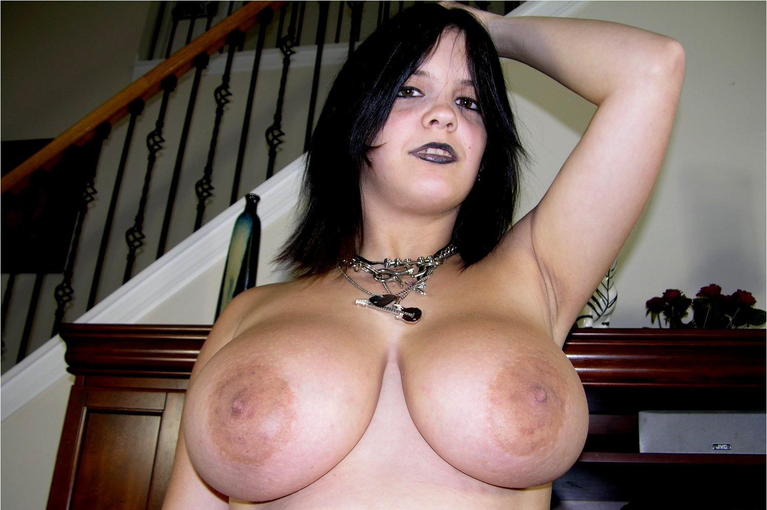 Apologise, but, Big goth boobs that