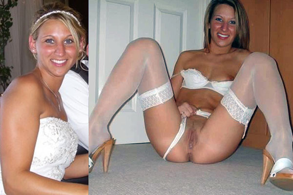 Nude amateur bride dressed and undressed the