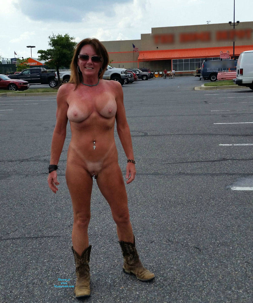 Wife naked in public caught