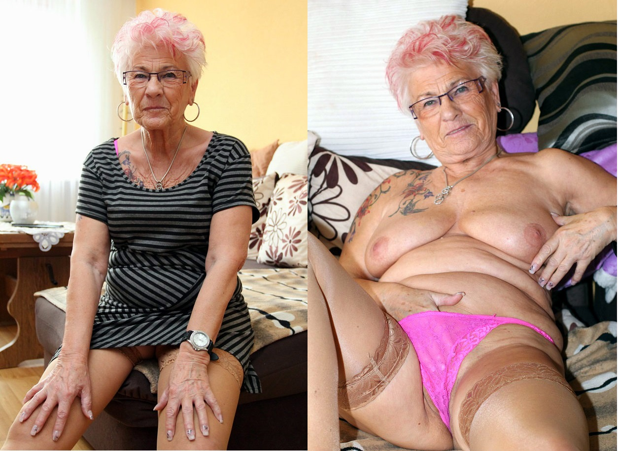 granny dressed and undressed