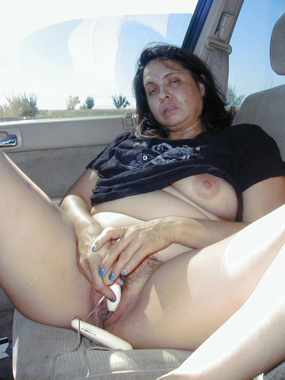 Car and nude women