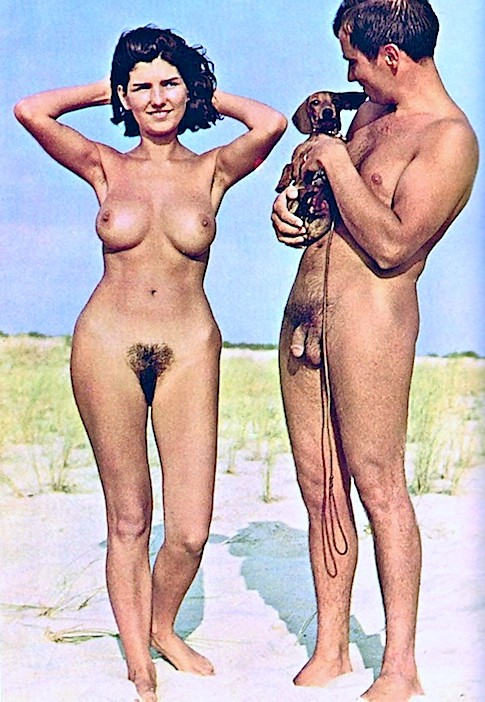 Nudist naturist couples vintage