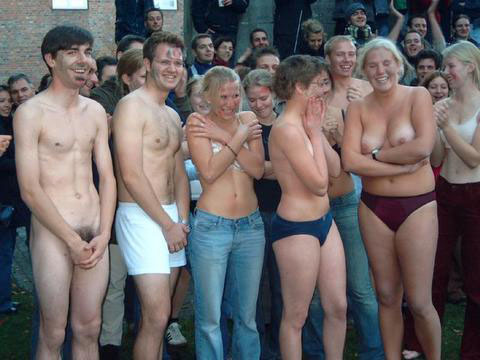 Students initiation naked
