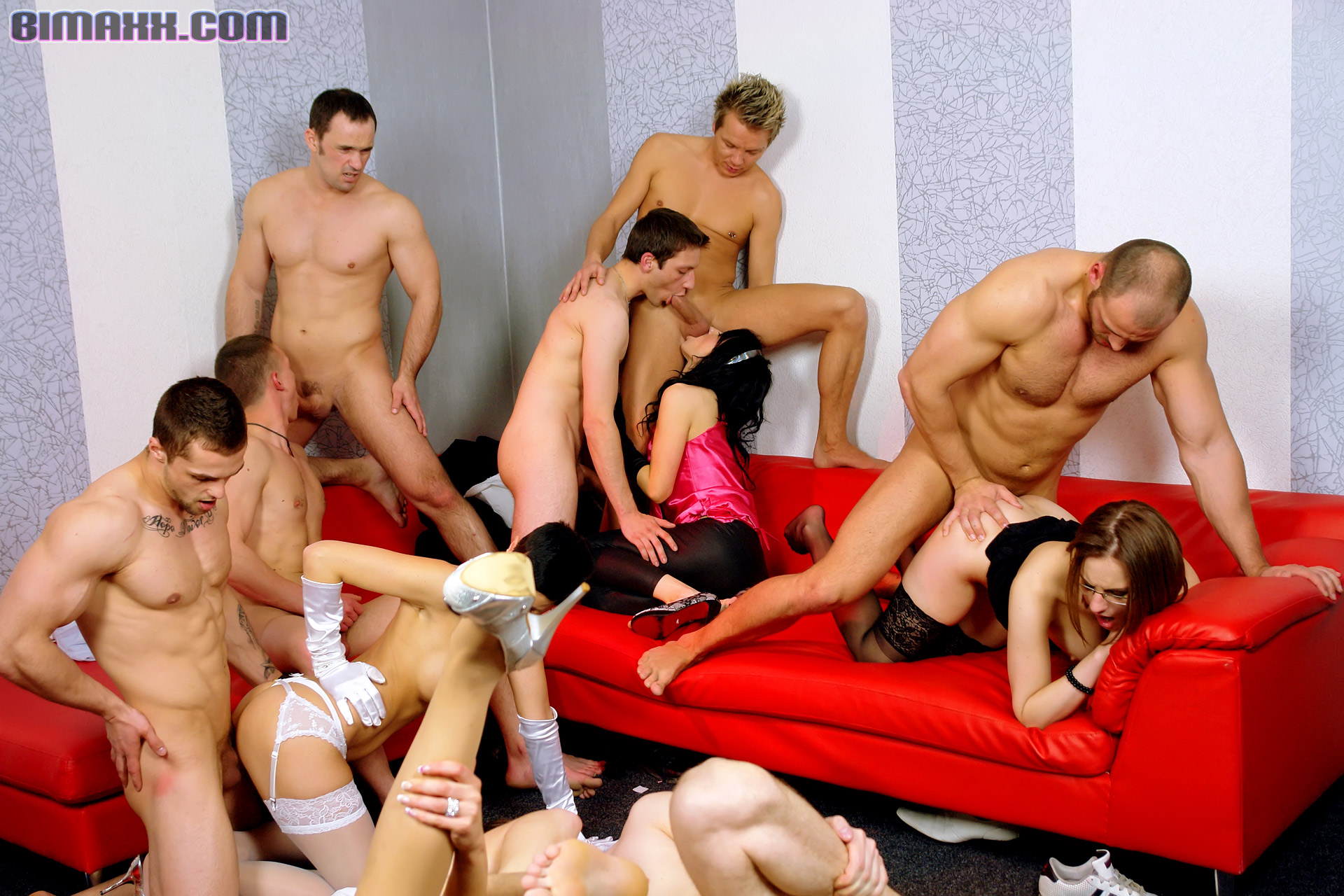 Porn Bisexual orgy