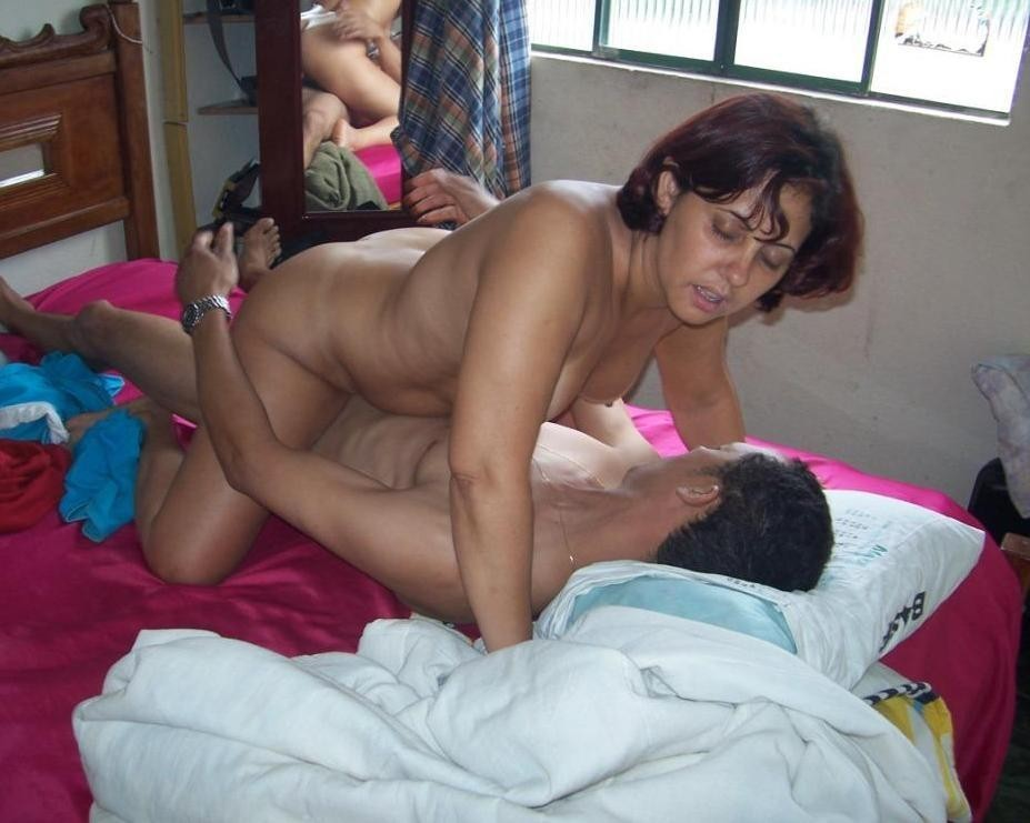 Sexy latina mom having sex with son #5