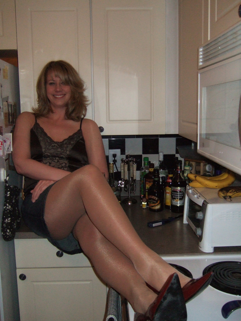 Middle aged blonde milf