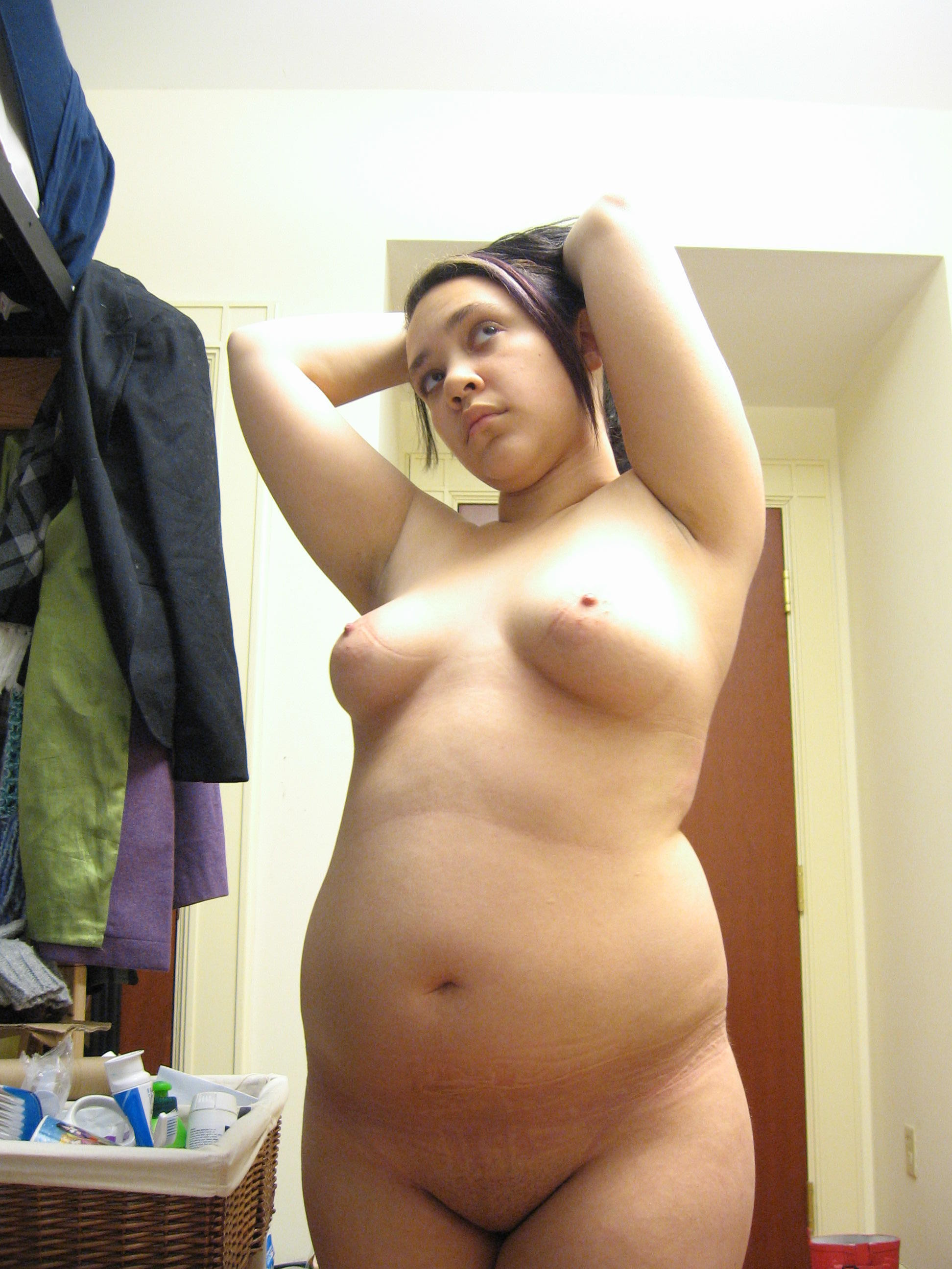 Very hot chubby with small boobs surprised