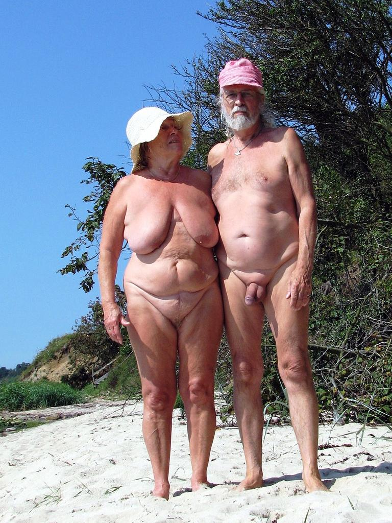 Just old couple nudist