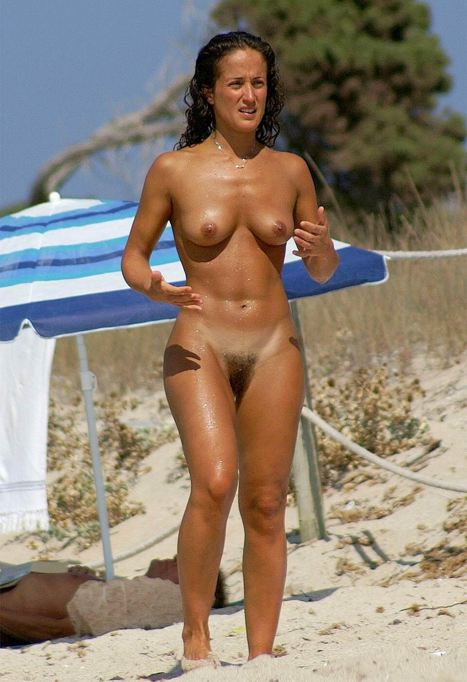 bush with beach Nudist girls