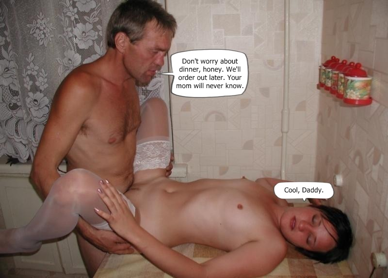 Girl and daddy having sex