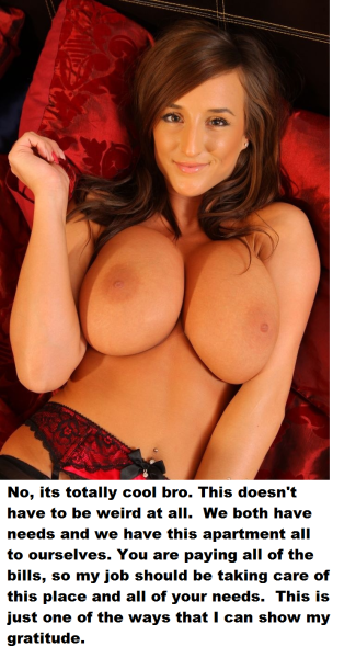 captions with tit Big sister
