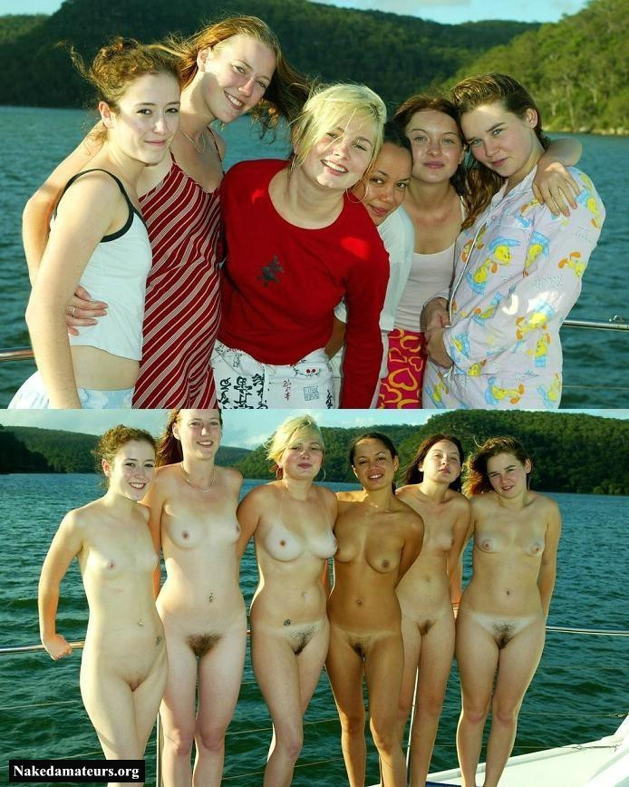 Excited too dressed undressed group have hit