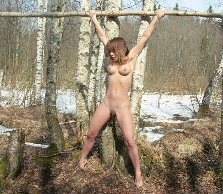 Tied outside Girls nude