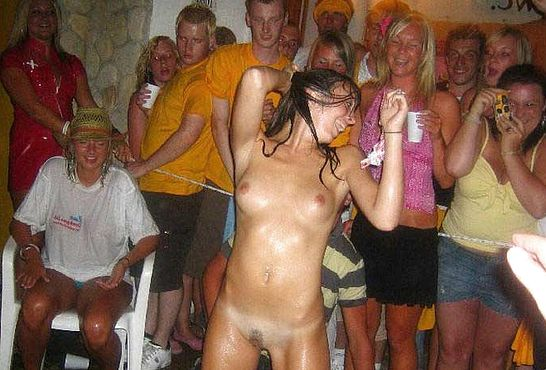 Wife drunk and naked in public