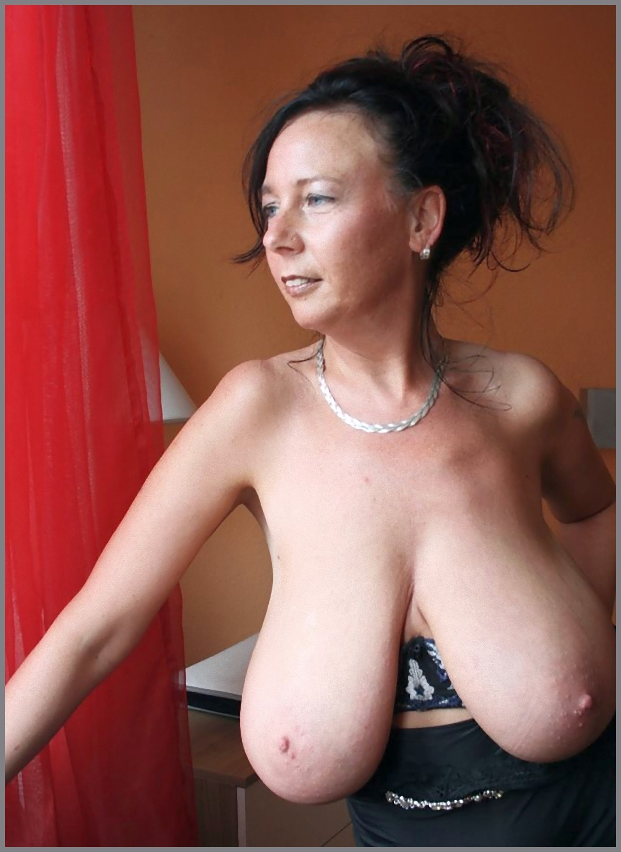 Big saggy heavy natural mature titted women sorry