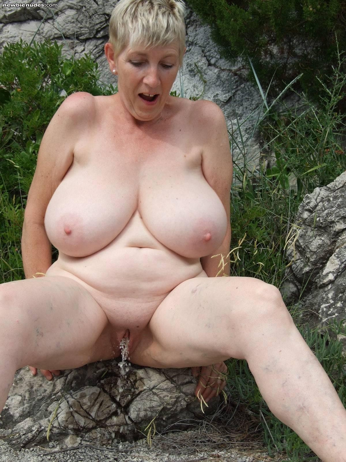 Grandma has big tits