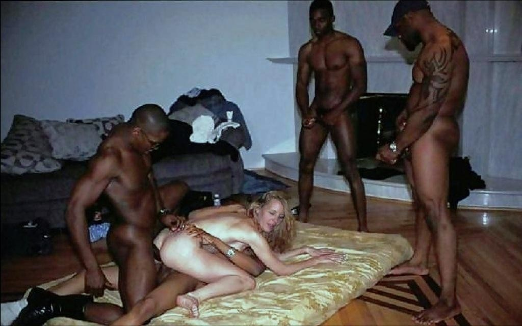 Amateur housewife interracial