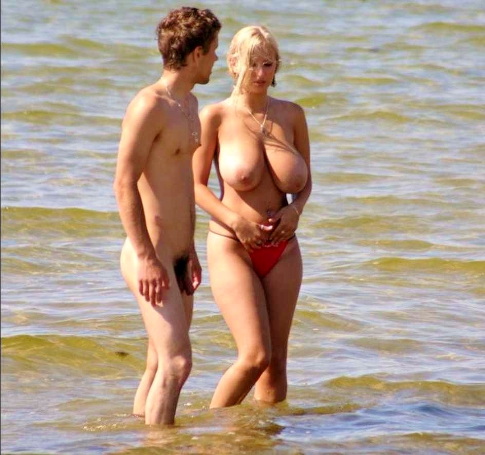 big tit beach amateurs