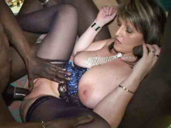White milf black gang bang