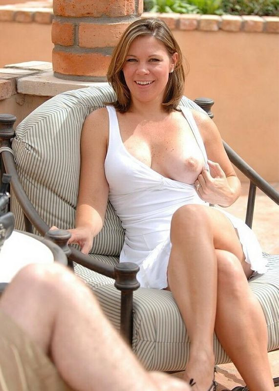 milf flashing Hot