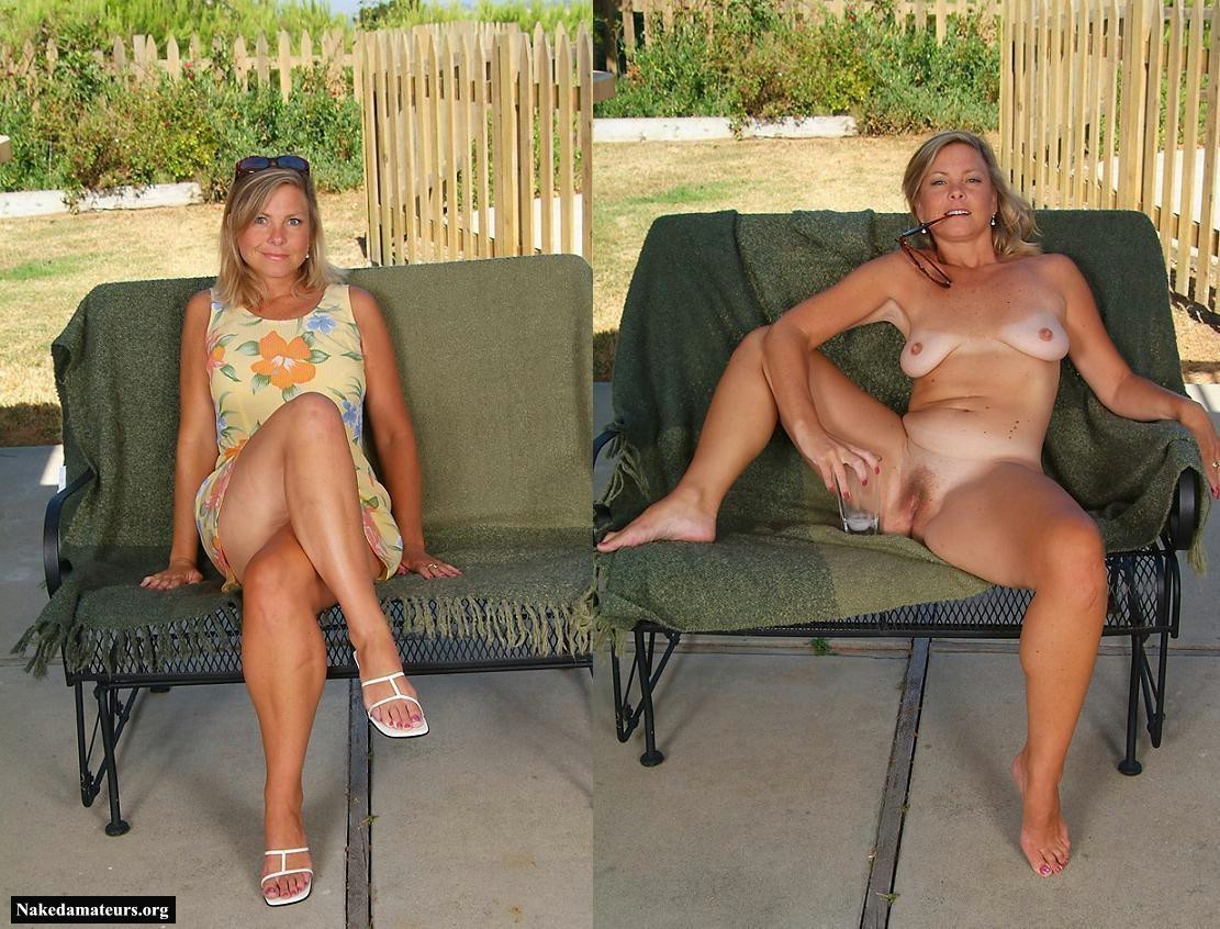 dressed undressed amateur mature Before and after - dressed undressed