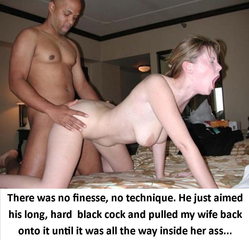 Anal caption rough sex wife