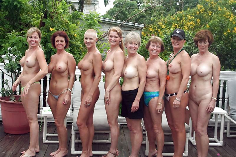 Mature Group Nude Outdoor