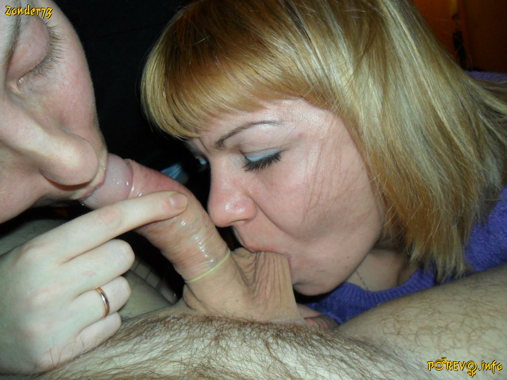 Blowjob with condom on