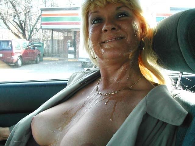 image Cumming on people public first time outdoor