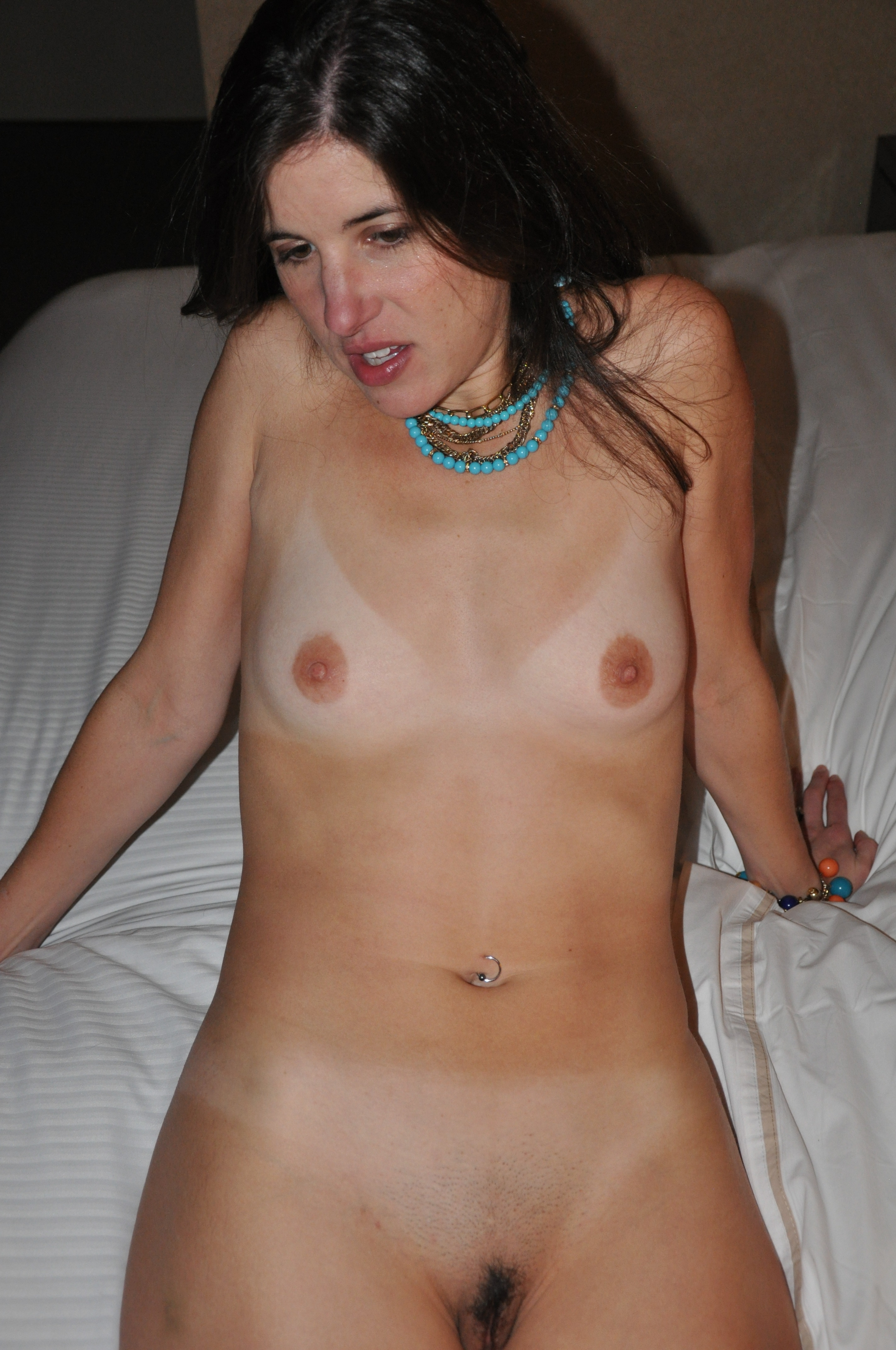 Flat chested amateur wife something is
