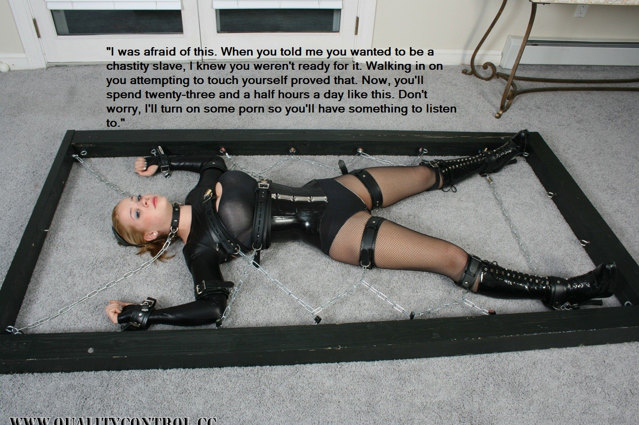 Female chastity bondage caption theme, will