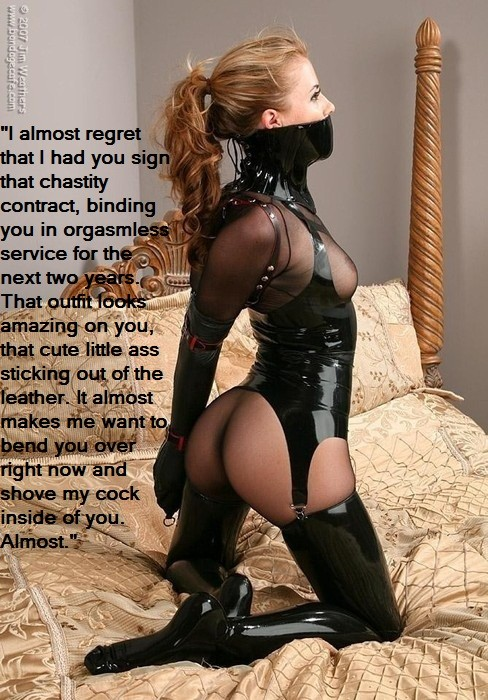 captions Slave girl chastity