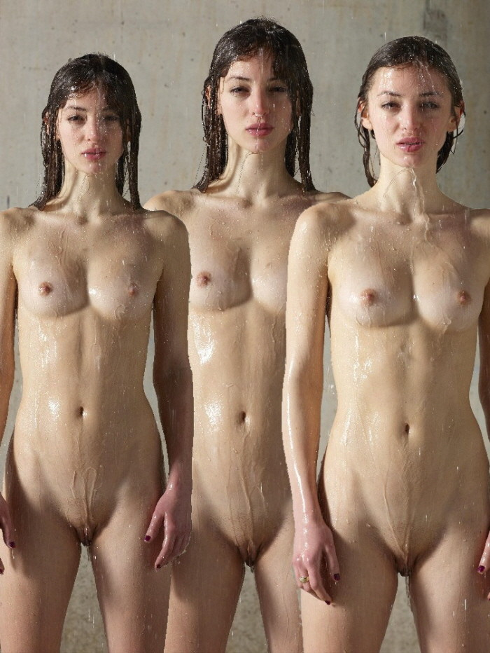 Teen brother and sister posing naked in galleries