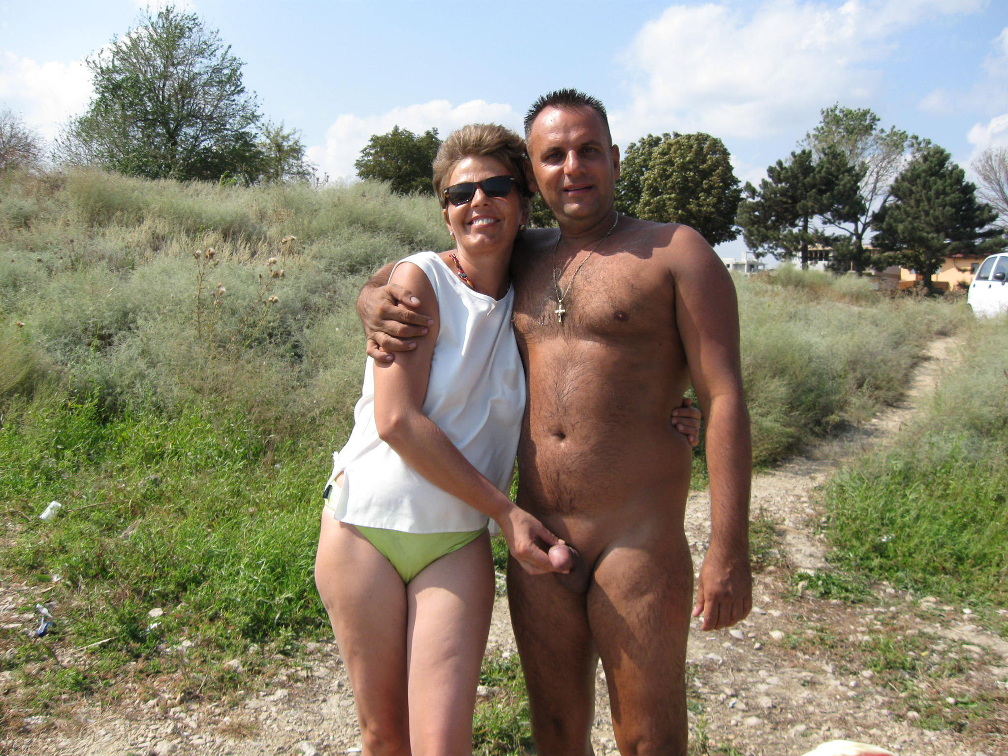 German couple wild outdoor sex 3