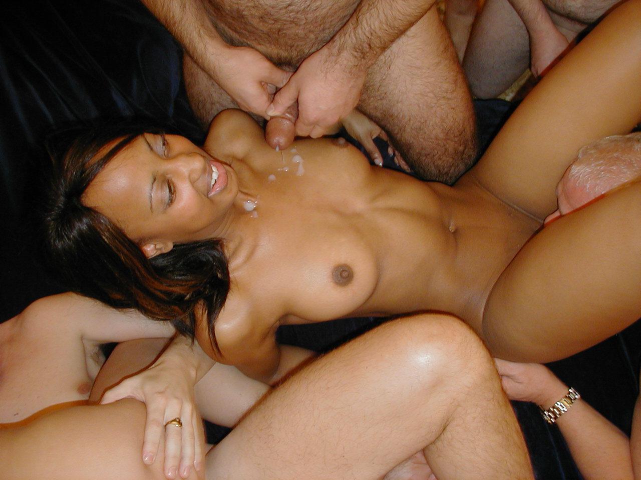 Black Girl White Guy Gangbang