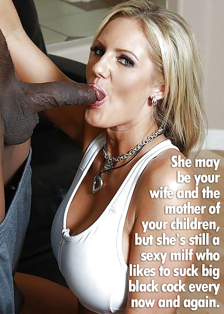Black captions interracial cock