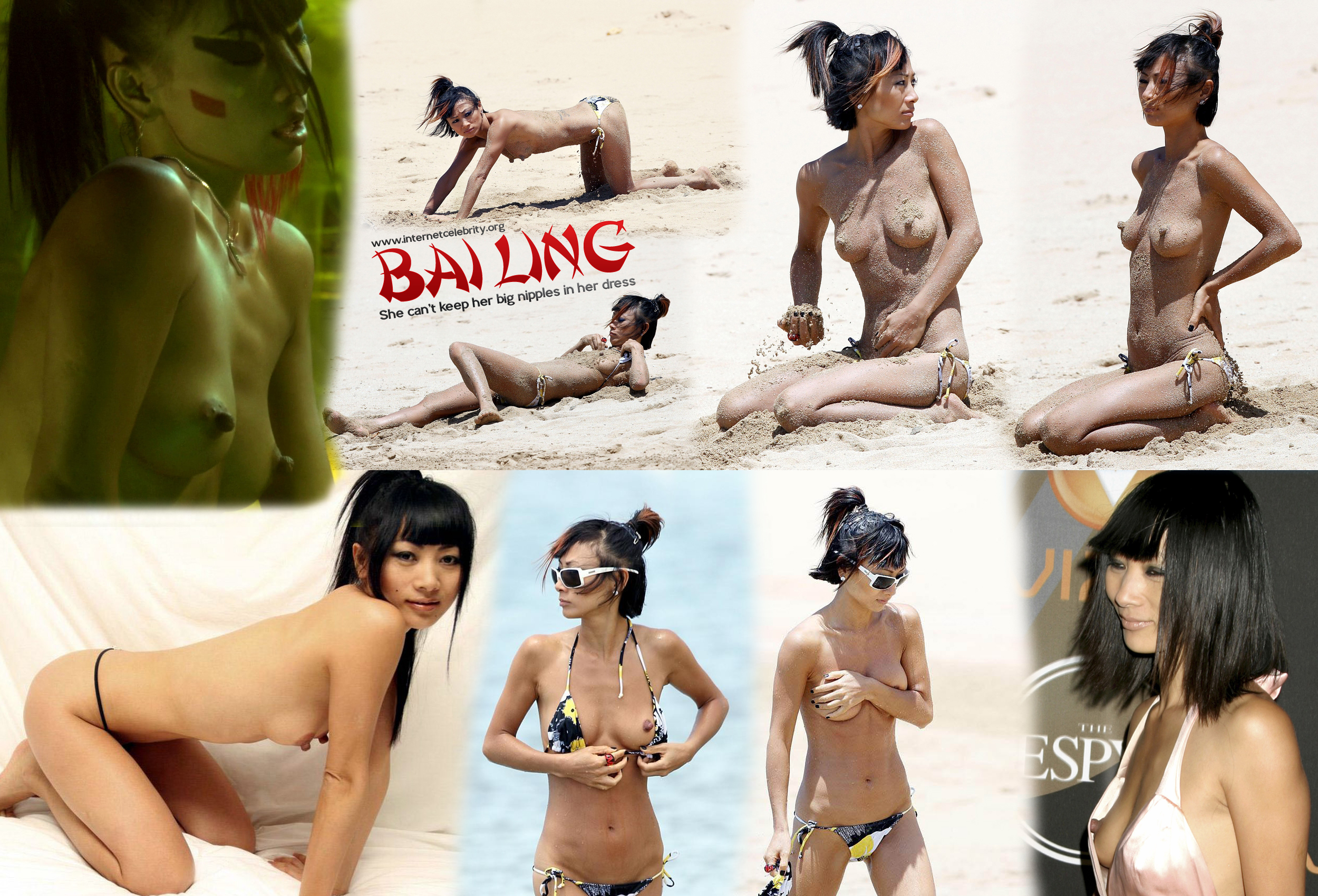 Pictures nipples naked bai ling