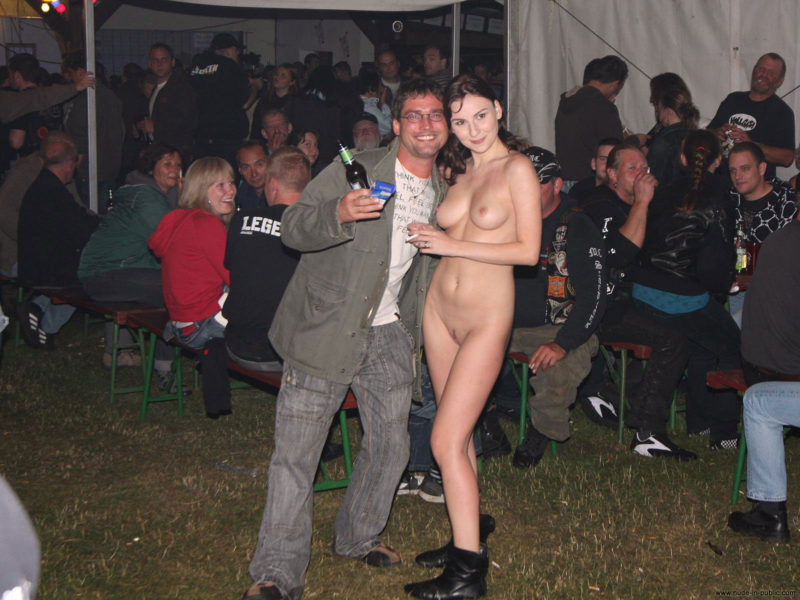 Nude naked crowd