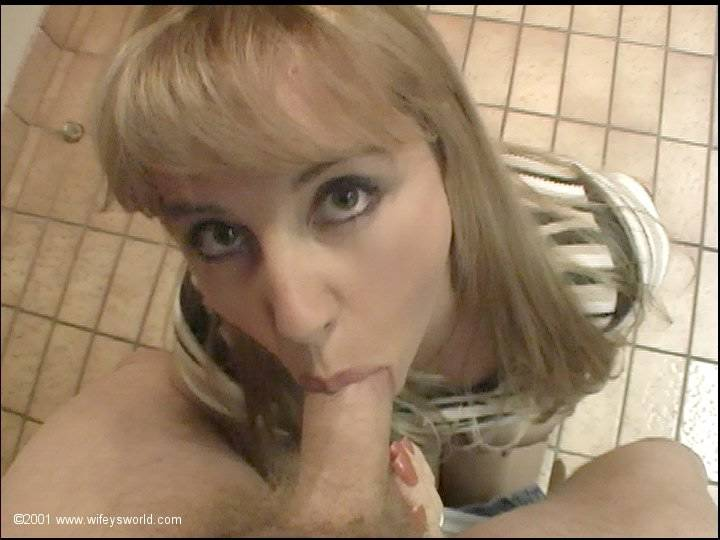 Cute Blonde Gives Blowjob