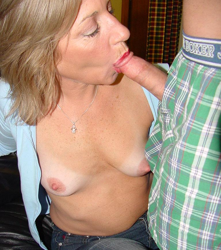 Mother And Son Blowjob
