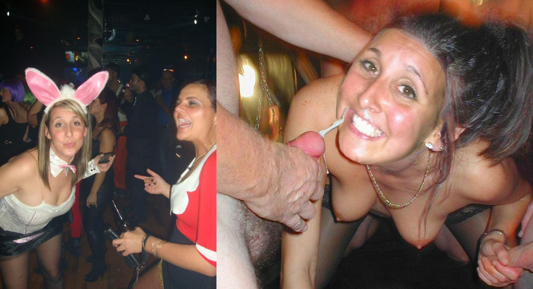 Before and after gangbang